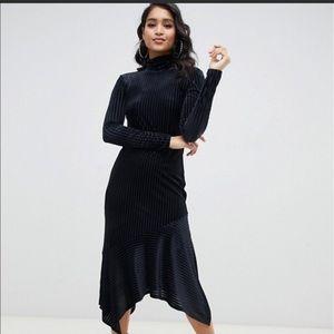 ISO! ASOS Design Burnout Velvet Midi Dress